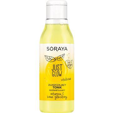 Soraya Just Glow – złuszczający tonik rozświetlający z witaminą C i kwasem glikolowym (1 szt.)