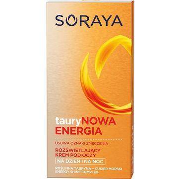 Soraya Taurynowa Energia krem pod oczy na dzień i na noc rozświetlający 15 ml