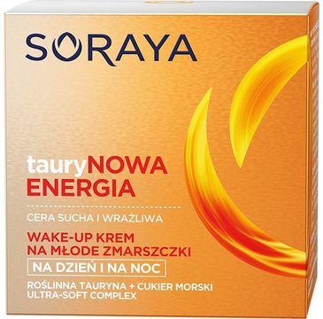 Soraya Taurynowa Energia Wake-Up krem na młode zmarszczki na dzień i noc cera sucha i wrażliwa 50 ml