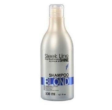 Stapiz Sleek Line Blond Shampoo szampon do włosów blond zapewniający platynowy odcień 300ml