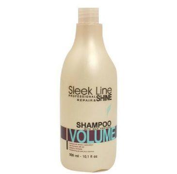 Stapiz Sleek Line Repair Volume Shampoo szampon do włosów z jedwabiem zwiększający objętość 300ml