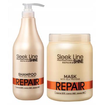 Stapiz Sleek Line Repair Zestaw XXL Szampon Maska (1 szt.)