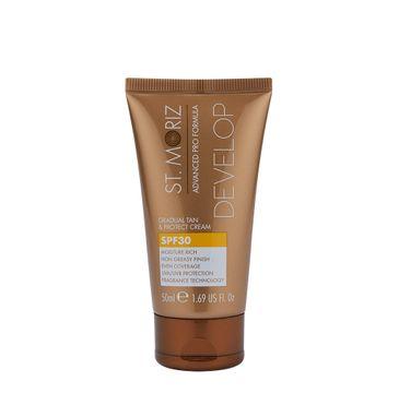 St.Moriz Advanced Pro Formula Gradual Tan & Protect Cream krem samoopalający z ochroną przeciwsłoneczną (50 ml)
