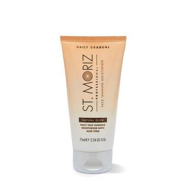 St.Moriz Professional Face Daily Tanning Moisturiser nawilżający krem na dzień dodający blasku z aloesem Natural Glow (75 ml)