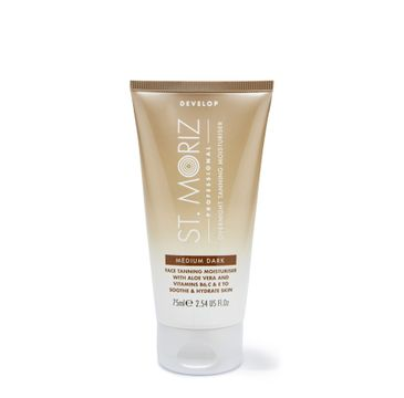 St.Moriz Professional Overnight Face Tanning Moisturiser krem nawilżająco-brązujący do twarzy Medium Dark (75 ml)