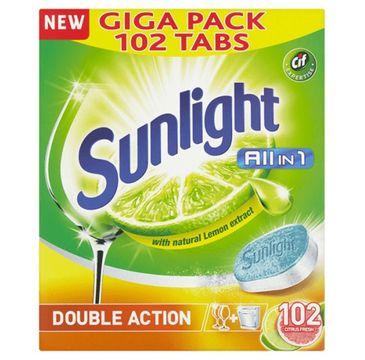 Sunlight All In 1 Double Action tabletki do zmywarki Lemon 102szt