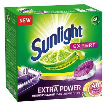 Sunlight Expert Extra Power Citrus Fresh tabletki do zmywarki 40szt