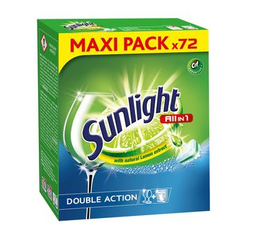 Sunlight tabletki do zmywarek all in 1 1 op. - 72 szt.