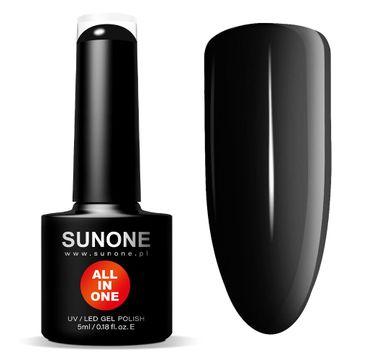 Sunone All In One lakier hybrydowy 3w1 Czarna Inez (5 ml)