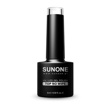 Sunone – UV/LED Gel Polish Top No Wipe top hybrydowy do paznokci (5 ml)