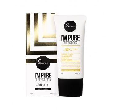 SUNTIQUE I'm Pure Perfect Cica SPF50+/PA++++ krem przeciwsłoneczny do skóry wrażliwej 50ml