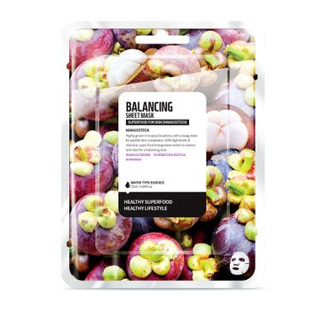Superfood For Skin Balancing Sheet Mask - normalizująca maseczka do twarzy Mangostan 25 ml