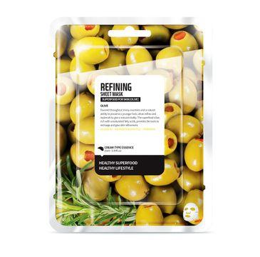 Superfood For Skin Refining Sheet Mask - odbudowująca maseczka do twarzy Oliwka 25 ml