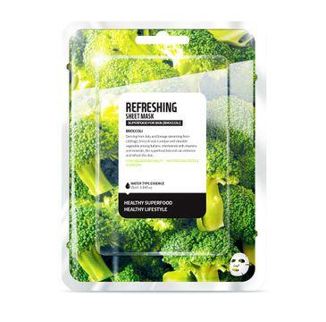 Superfood For Skin Refreshing Sheet Mask - odświeżająca maseczka do twarzy Brokuł 25 ml