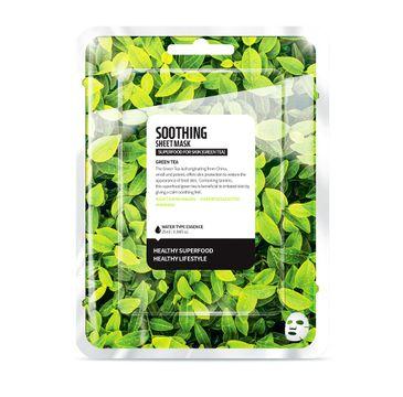 Superfood For Skin Soothing Sheet Mask - kojąca maseczka do twarzy Zielona Herbata 25 ml