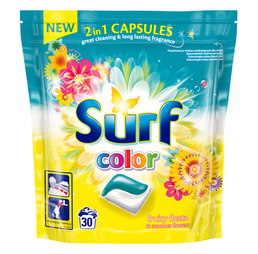 Surf Color kapsułki do prania 2in1 Fruity Fiest & Summer Flowers 1 op. - 30 szt.