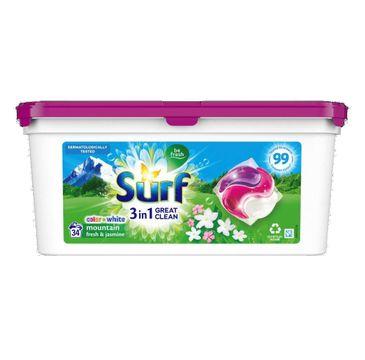 Surf Mountain Fresh&Jasmine kapsułki do prania (34 szt.)