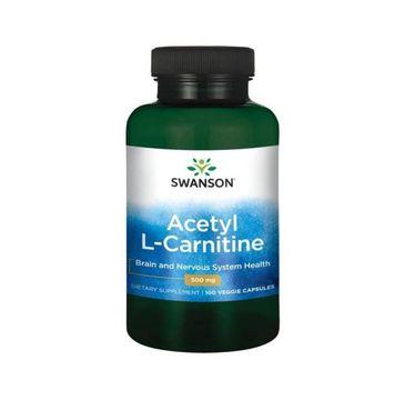 Swanson Acetyl L-Carnitine 500mg suplement diety 100 kapsułek