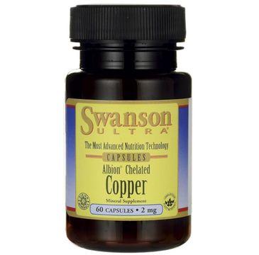 Swanson Albion Chelat Miedzi 2mg suplement diety 60 kapsułek