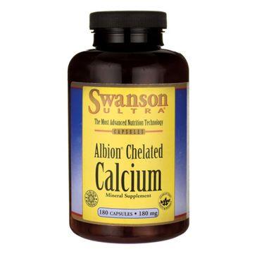 Swanson Albion Chelat Wapnia 180mg suplement diety 180 kapsułek