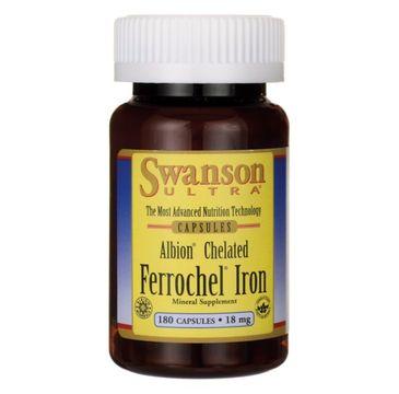 Swanson Albion Chelat Żelaza 18mg suplement diety 180 kapsułek