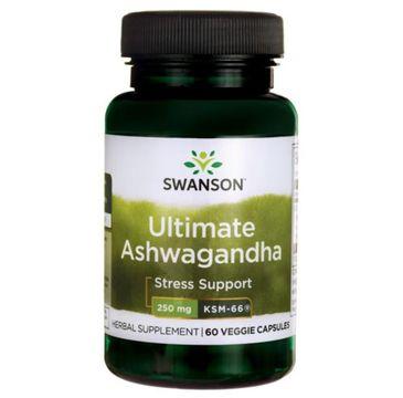 Swanson Ashwagandha Ksm-66 250mg suplement diety 60 kapsułek