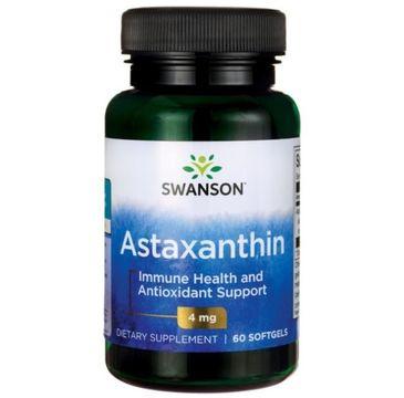 Swanson Astaksantyna 4mg suplement diety 60 kapsułek