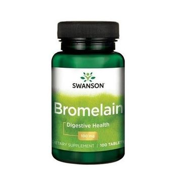 Swanson Bromelina 100mg suplement diety 100 tabletek