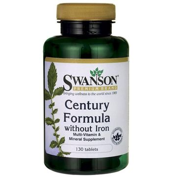 Swanson Century Formuła Bez Żelaza suplement diety 130 tabletek