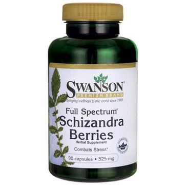 Swanson FS Schizandra Cytryniec Chiński 525mg suplement diety 90 kapsułek