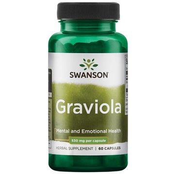 Swanson Graviola 530mg suplement diety 60 kapsułek