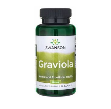 Swanson Graviola 600mg suplement diety 60 kapsułek