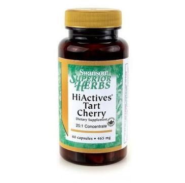 Swanson Hiactives Tart Cherry 465mg suplement diety 60 kapsułek