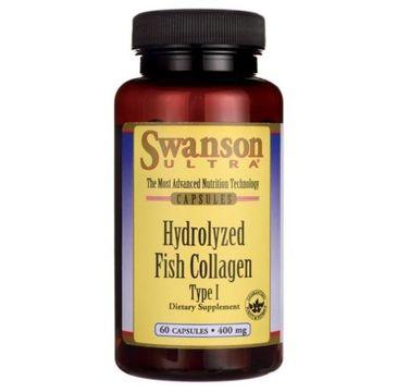 Swanson Hydrolizowany Kolagen z Ryb Typ I 400mg suplement diety 60 kapsułek