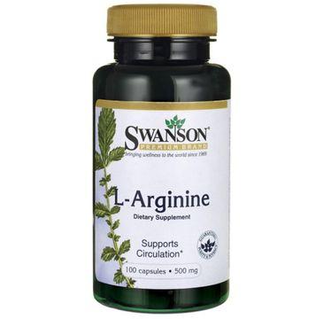 Swanson L-Arginina 500mg suplement diety 100 kapsułek