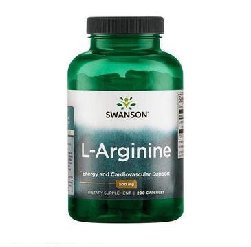 Swanson L-Arginina 500mg suplement diety 200 kapsułek