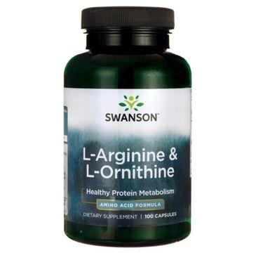 Swanson L-Arginina + L-Ornityna suplement diety 100 kapsułek