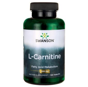 Swanson L-Karnityna 500mg suplement diety 100 tabletek