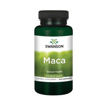 Swanson Maca 500mg suplement diety 100 kapsułek