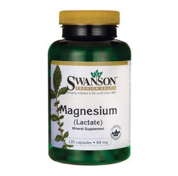 Swanson Mleczan Magnezu 84mg suplement diety 120 kapsułek