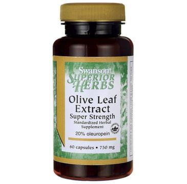 Swanson Olive Leaf Extract Liść Oliwny 750mg suplement diety 60 kapsułek