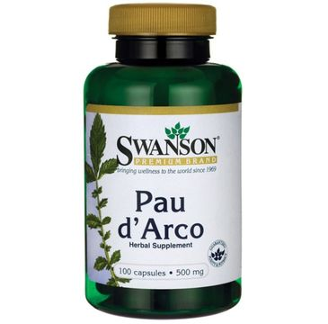 Swanson Pau D'Arco 500mg suplement diety 100 kapsułek
