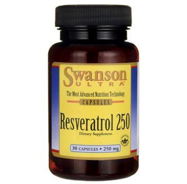 Swanson Resweratrol 250mg suplement diety 30 kapsułek