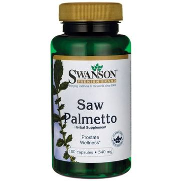 Swanson Saw Palmetto 540mg suplement diety 100 kapsułek