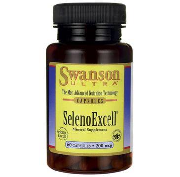 Swanson Selenoexcell Naturalny Selen 200µg suplement diety 60 kapsułek