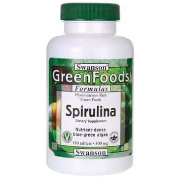 Swanson Spirulina 500mg suplement diety 180 tabletek
