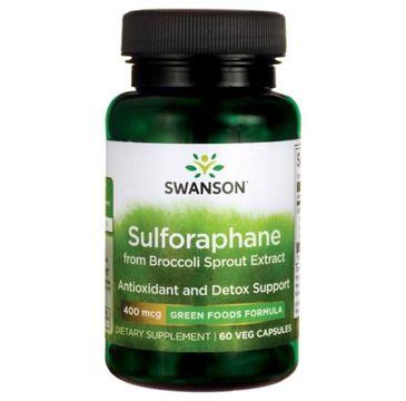 Swanson Sulforafan Kiełki Brokuła 400µg suplement diety 60 kapsułek