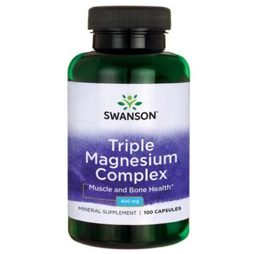 Swanson Triple Magnesium Complex 400mg suplement diety 100 kapsułek