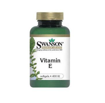 Swanson Witamina E 400IU suplement diety 60 kapsułek