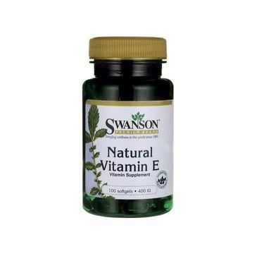 Swanson Witamina E Naturalna 400IU suplement diety 100 kapsułek